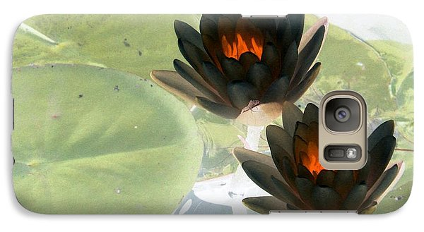Galaxy Case featuring the photograph The Water Lilies Collection - Photopower 1039 by Pamela Critchlow