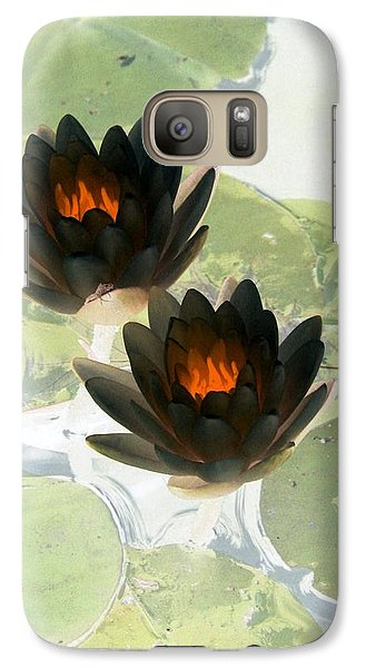 Galaxy Case featuring the photograph The Water Lilies Collection - Photopower 1040 by Pamela Critchlow