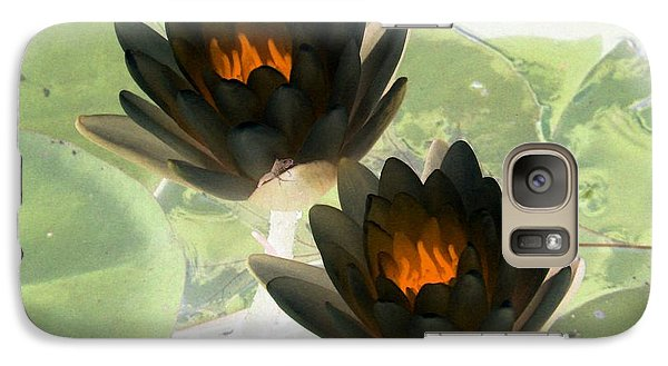 Galaxy Case featuring the photograph The Water Lilies Collection - Photopower 1041 by Pamela Critchlow