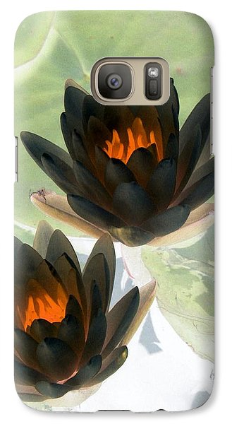 Galaxy Case featuring the photograph The Water Lilies Collection - Photopower 1046 by Pamela Critchlow