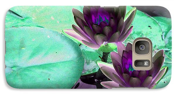 Galaxy Case featuring the photograph The Water Lilies Collection - Photopower 1118 by Pamela Critchlow