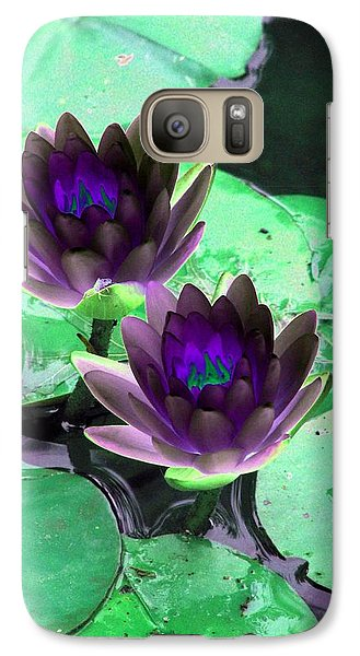 Galaxy Case featuring the photograph The Water Lilies Collection - Photopower 1119 by Pamela Critchlow