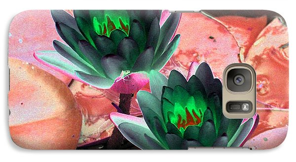 Galaxy Case featuring the photograph The Water Lilies Collection - Photopower 1120 by Pamela Critchlow