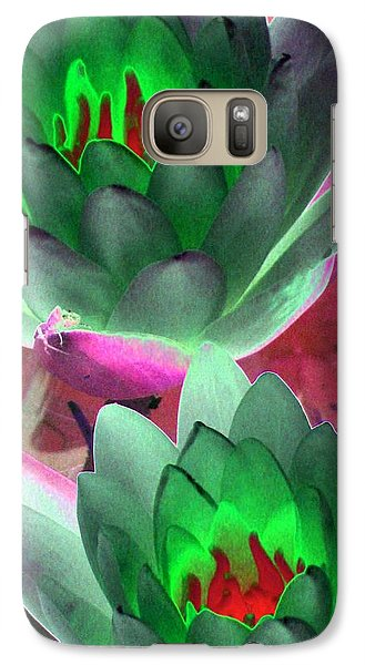 Galaxy Case featuring the photograph The Water Lilies Collection - Photopower 1121 by Pamela Critchlow