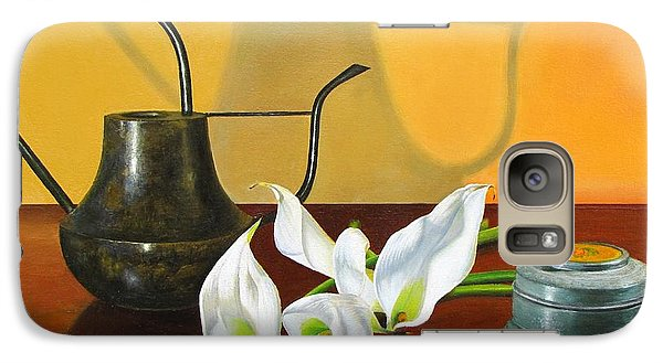 Galaxy Case featuring the painting The Watering Can by Glenn Beasley
