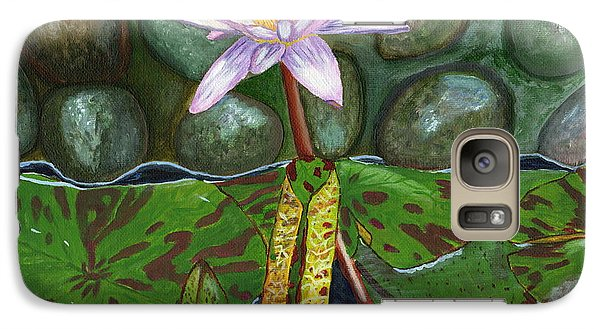 Galaxy Case featuring the painting The Waterlily by Laura Forde