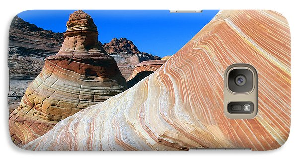 Galaxy Case featuring the photograph 'the Wave' North Coyote Buttes 10 by Jeff Brunton