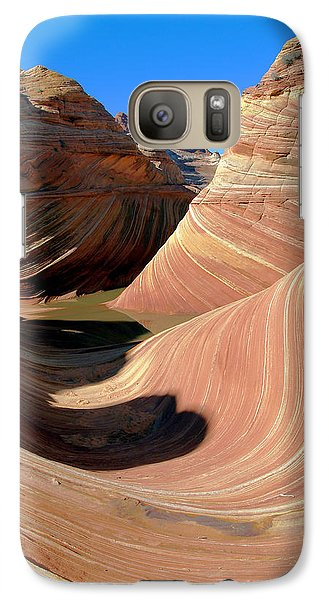 Galaxy Case featuring the photograph 'the Wave' North Coyote Buttes 19 by Jeff Brunton