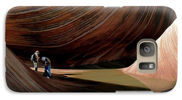Galaxy Case featuring the photograph 'the Wave' North Coyote Buttes 44 by Jeff Brunton