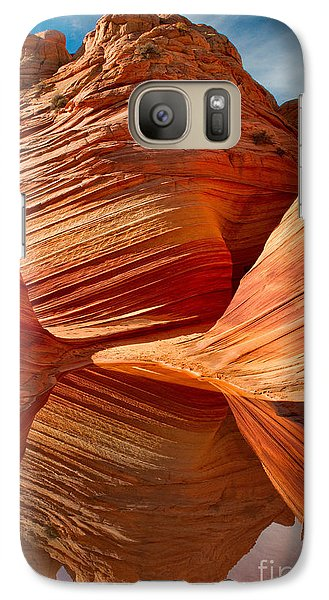 Galaxy Case featuring the photograph The Wave With Reflection by Jerry Fornarotto