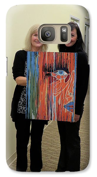 Galaxy Case featuring the painting The Way Eye See It by Kathleen Sartoris