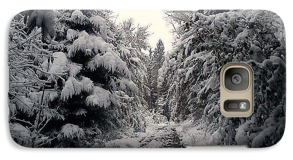 Galaxy Case featuring the photograph The Way In Snow by Felicia Tica