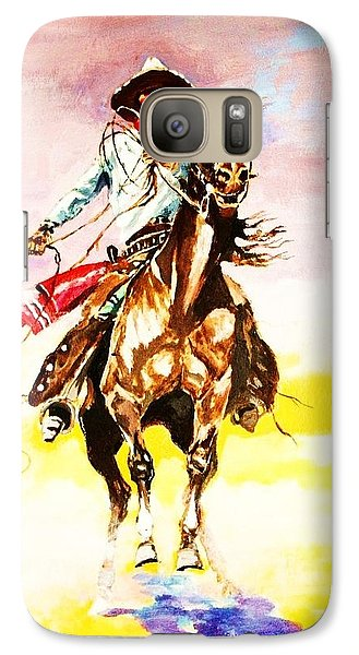 Galaxy Case featuring the painting The Way Of The Vaquero by Al Brown