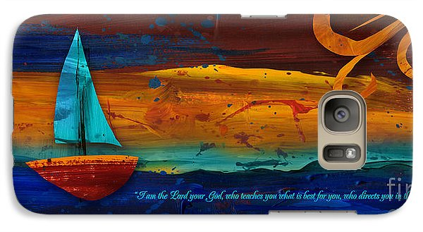 Galaxy Case featuring the mixed media The Way You Should Go by Shevon Johnson