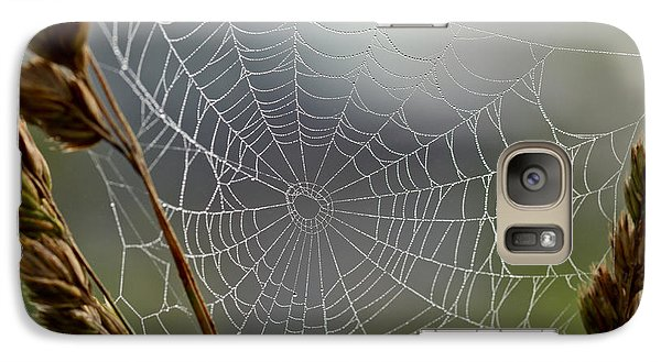 Galaxy Case featuring the photograph The Web by Kerri Farley