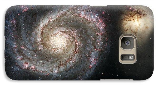 The Whirlpool Galaxy M51 And Companion Galaxy S7 Case by Adam Romanowicz