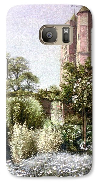 Galaxy Case featuring the painting The White Garden by Rosemary Colyer