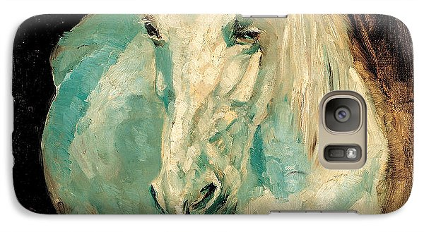 Galaxy Case featuring the painting The White Gazelle by Allen Beilschmidt