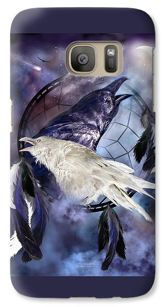 The White Raven Galaxy S7 Case by Carol Cavalaris