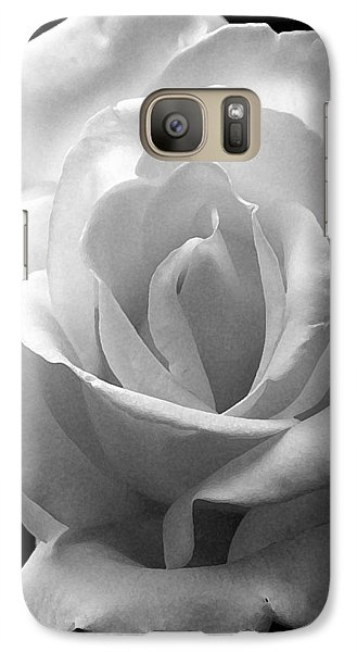 Galaxy Case featuring the photograph The White Rose by James C Thomas