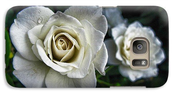 Galaxy Case featuring the photograph The White Rose by Oscar Alvarez Jr