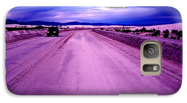 Galaxy Case featuring the photograph The White Sands Car New Mexico by Bob Pardue