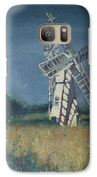 Galaxy Case featuring the painting The Windmill by Lori Ippolito