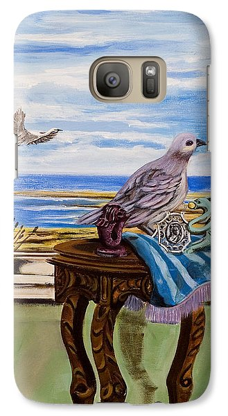Galaxy Case featuring the painting The Window Has A View by Susan Culver