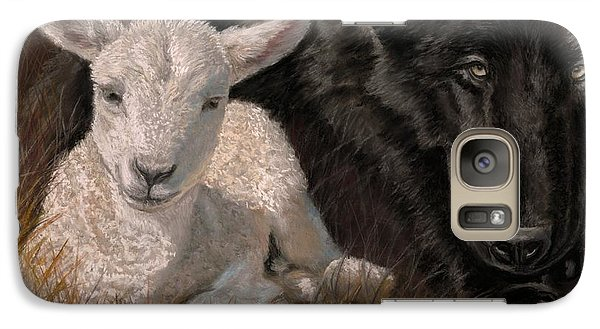 Galaxy Case featuring the painting The Wolf And The Lamb by Sheri Gordon