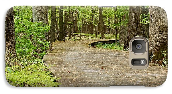 Galaxy Case featuring the photograph The Wooden Path by Patrick Shupert