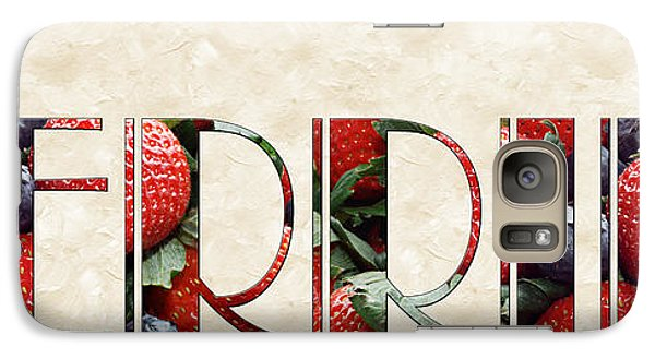 The Word Is Berries  Galaxy Case by Andee Design