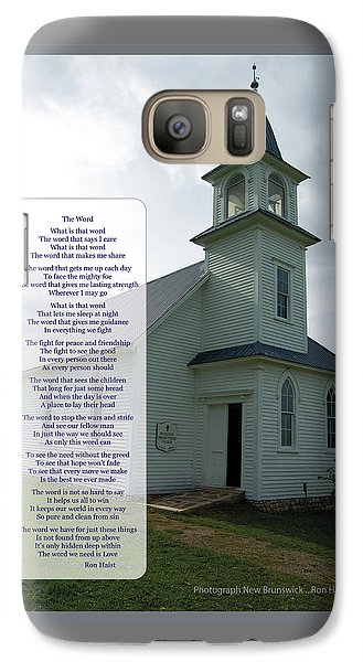 Galaxy Case featuring the photograph The Word by Ron Haist