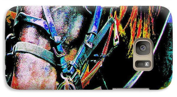 Galaxy Case featuring the photograph The Working Horse by Annie Zeno