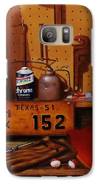 Galaxy Case featuring the painting The Workshop by Gene Gregory