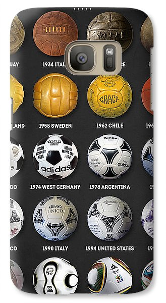 The World Cup Balls Galaxy S7 Case by Taylan Apukovska