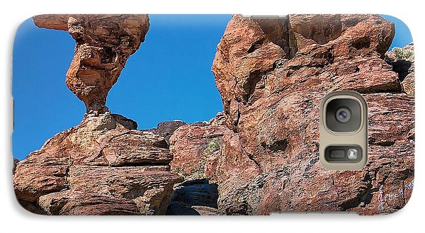 Galaxy Case featuring the photograph The World-famous Balanced Rock by Michael Rogers