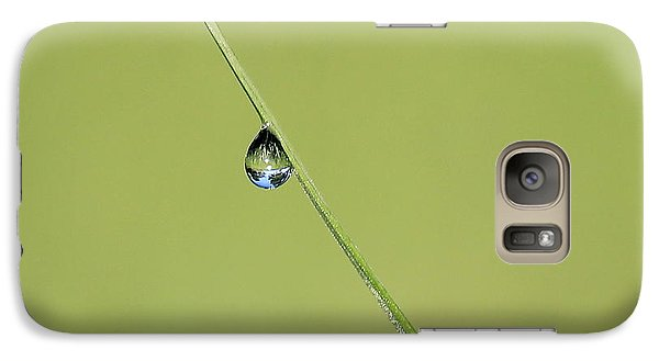 Galaxy Case featuring the photograph The World Within A Dewdrop by Penny Meyers