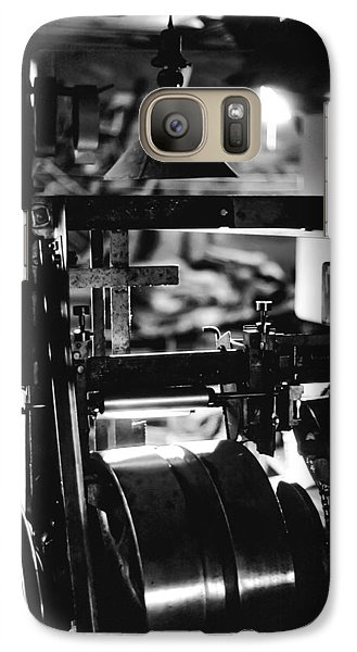 Galaxy Case featuring the photograph The Yardstick Press by Dennis Bucklin
