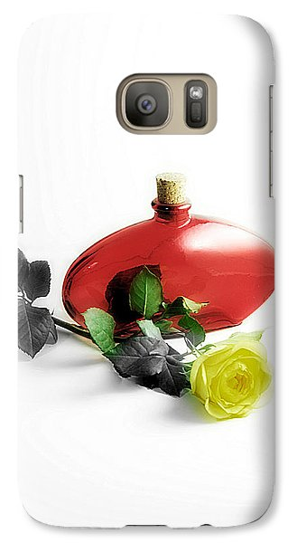 Galaxy Case featuring the photograph The Yellow Rose by Karo Evans