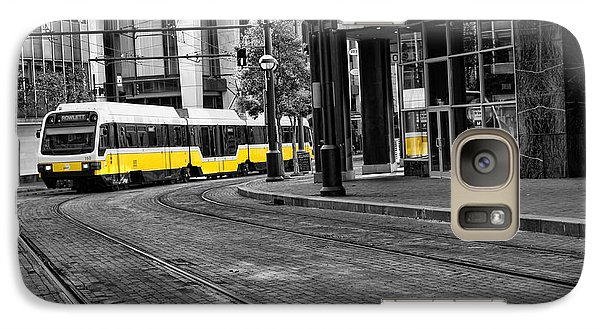 Galaxy Case featuring the photograph The Yellow Train Of Dallas by Kathy Churchman