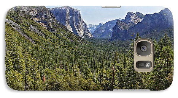 Galaxy Case featuring the photograph The Yosemite Valley by Sebastien Coursol