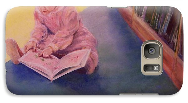Galaxy Case featuring the painting The Young Librarian by Mary Lynne Powers