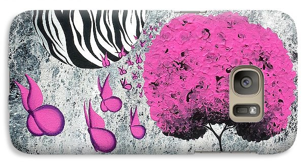 Galaxy Case featuring the painting The Zebra Effect 1 by Oddball Art Co by Lizzy Love