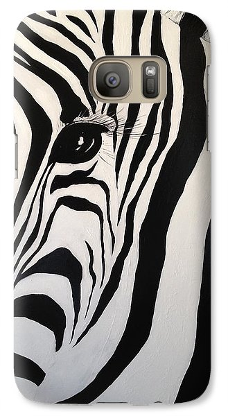 Galaxy Case featuring the painting The Zebra With One Eye by Alan Lakin