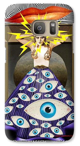 Galaxy Case featuring the digital art Theda Da by Sasha Keen