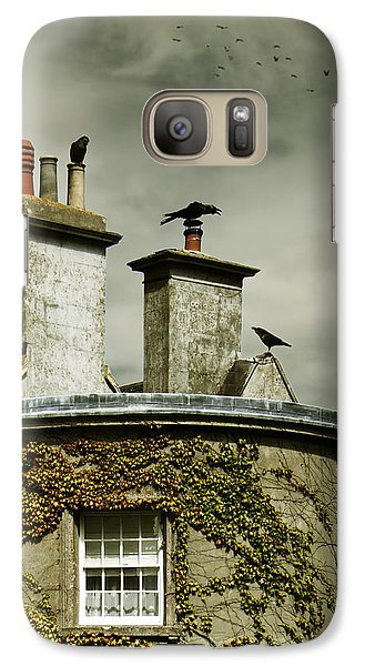 Galaxy Case featuring the photograph Thee Crows On Chimney's by Ethiriel  Photography