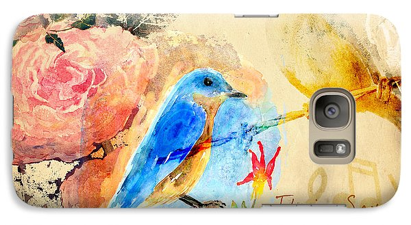 Galaxy Case featuring the mixed media Their Sounds Fill The Air by Arline Wagner