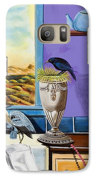 Galaxy Case featuring the painting There Are Birds In The Kitchen Sink by Susan Culver