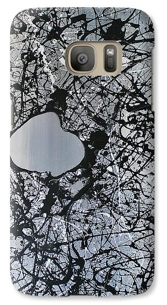 Galaxy Case featuring the painting There Is A Hole In The Bucket by Michael Cross