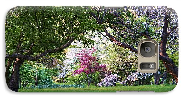 Galaxy Case featuring the photograph There Is No Place Like Spring by Judy Via-Wolff